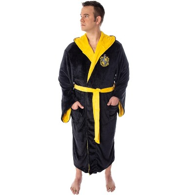 Harry Potter Adult Fleece Plush Hooded Robe - Big and Tall