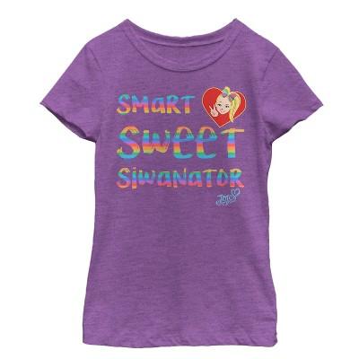 Girl's Jojo Siwa Smart Sweet Siwanator T-Shirt