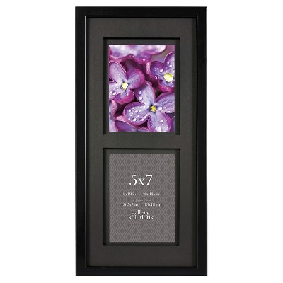 Gallery Solutions 2 Openings 5 x7  Frame - Black