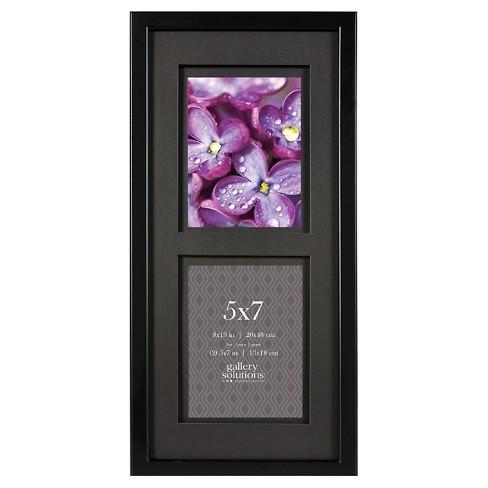 Gallery Solutions 2 Openings 5x7 Frame Black Target