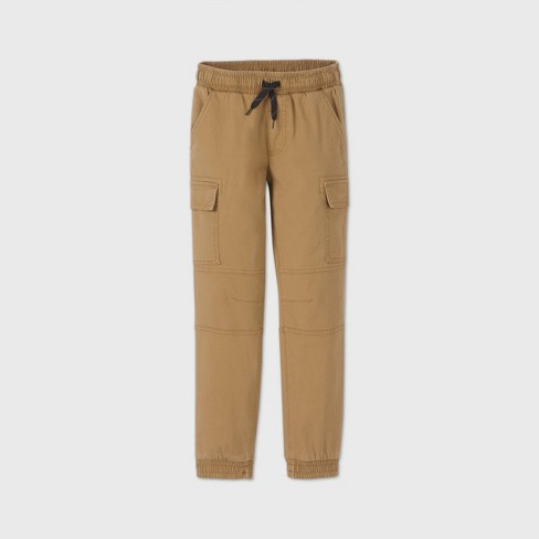 Boys' Pull-On Cargo Jogger Pants - art class™ Brown - image 1 of 2