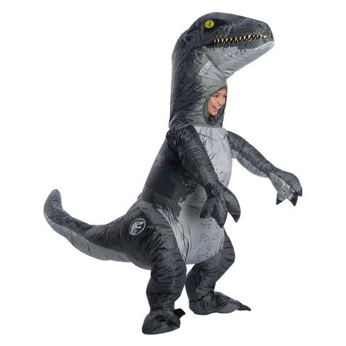 Kids Jurassic World Raptor Air Blown Inflatable Halloween Costume