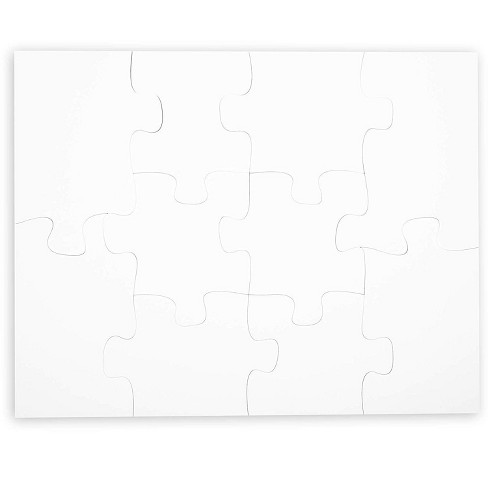 """Unfinished Blank Poster Jigsaw Puzzles for Kids, White DIY Puzzle to Draw On for Arts & Crafts, Large 22"""" x 28"""", 10pc - image 1 of 3"""