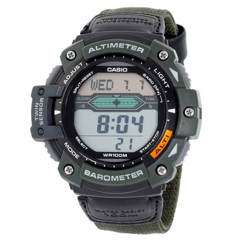 Men's Casio Altimeter Barometer and Thermometer Watch - Green (SGW300HB-3AVCF) - image 1 of 1