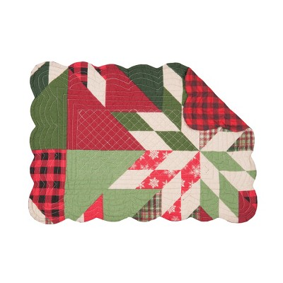 C F Home Northlyn Cotton Quilted Rectangular Reversible 13 X 19 Placemat Set Of 6 Target