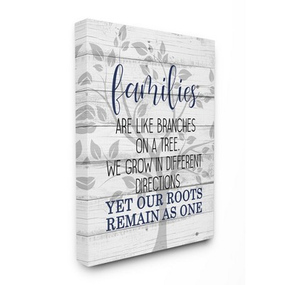 Stupell Industries Family Branches and Roots Phrase Tree Growth Inspiration