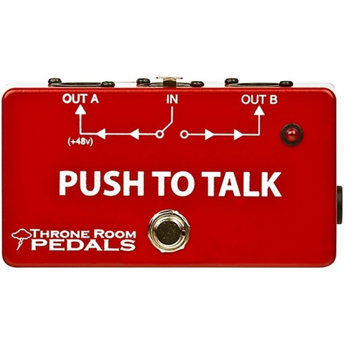 Throne Room Pedals Push To Talk Box Latching XLR A/B Switcher - image 1 of 2
