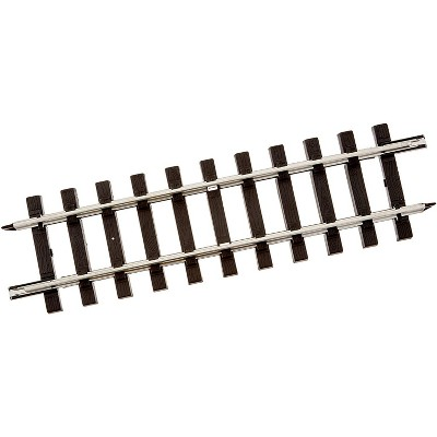 Bachmann Trains 94611 Large G Scale 1:25 Straight 12 Inch Steel Alloy Track, For Model Train Set Up and Display Addition & Expansion, 50 Pieces, Black