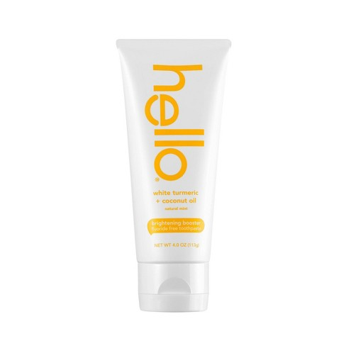 hello Brightening Booster White Turmeric Natural Mint Fluoride Free Toothpaste - 4oz - image 1 of 4