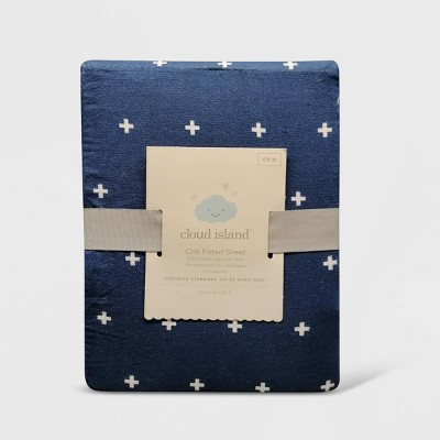 Crib Fitted Sheet Plus - Cloud Island™ Navy
