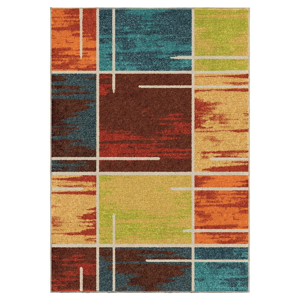"""Image of """"Abstract Woven Area Rug - (7'10""""""""x10'10"""""""") - Orian"""""""