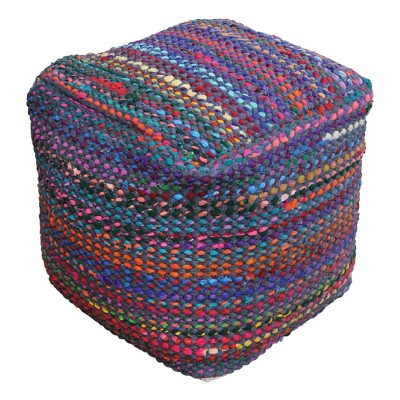 Madrid Pouf Indigo - Christopher Knight Home