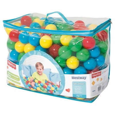 Bestway Fisher Price 93513E Small Plastic Multi-Colored Play Balls, 250 Count