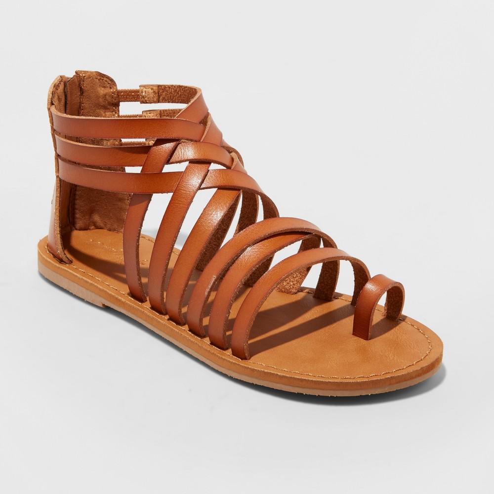 Women's Makena Gladiator Sandals - Universal Thread Cognac (Red) 6.5