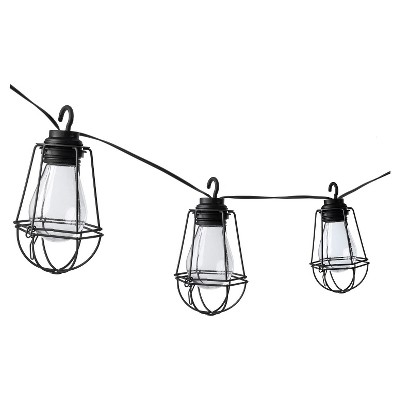Paradise Garden 10 Ct Plastic Vintage Bulb LED String Light with Metal Cages