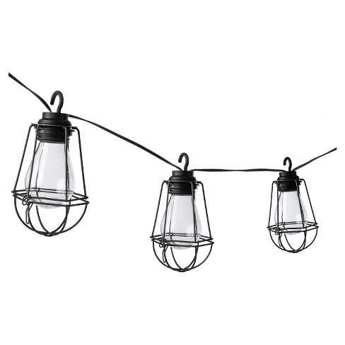 Paradise Garden 10 Ct Plastic Vintage Bulb LED String Light with Metal Cages - image 1 of 1