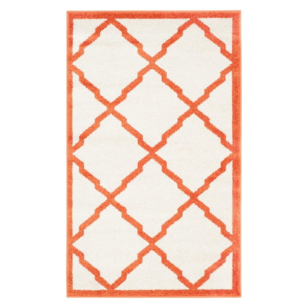 2 39 6 34 X4 39 Rectangle Outdoor Patio Rug Beige Orange Safavieh