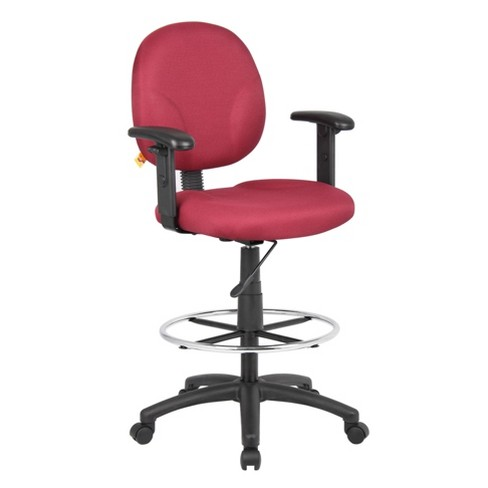 Drafting Stools with Adjustable Arms Burgundy - Boss Office Products - image 1 of 4
