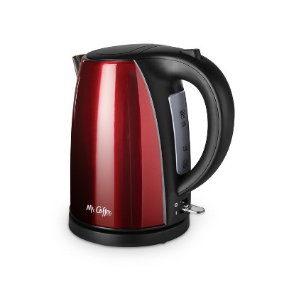 Mr. Coffee Stainless Steel Electric Kettle - Red