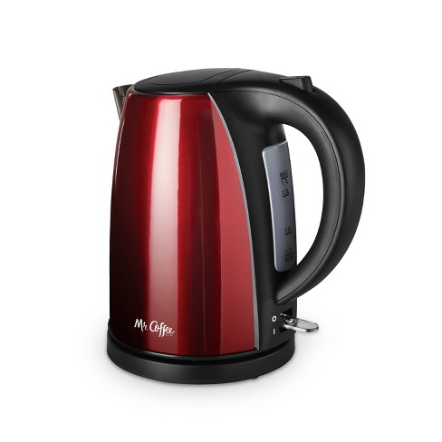 Mr. Coffee Stainless Steel Electric Kettle - Red - image 1 of 4