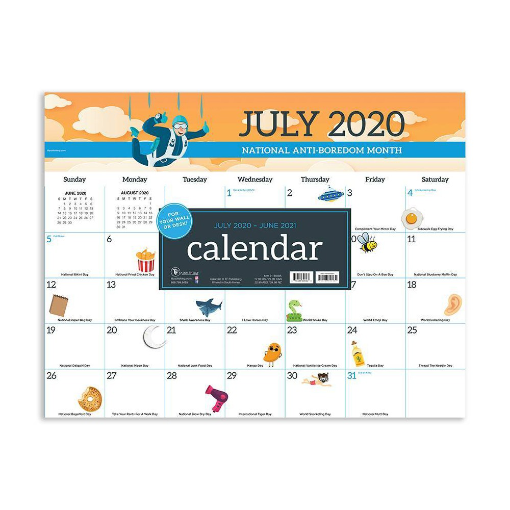 "Image of ""2020-21 Academic Desktop Calendar Every Day's A Holiday Large 17"""" x 22"""" - TF Publishing"""