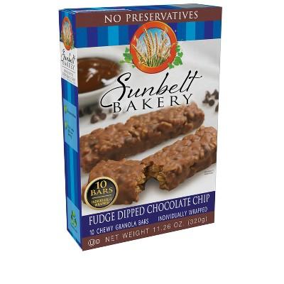Sunbelt Bakery Fudge Dipped Chocolate Chip Granola Bars 10ct