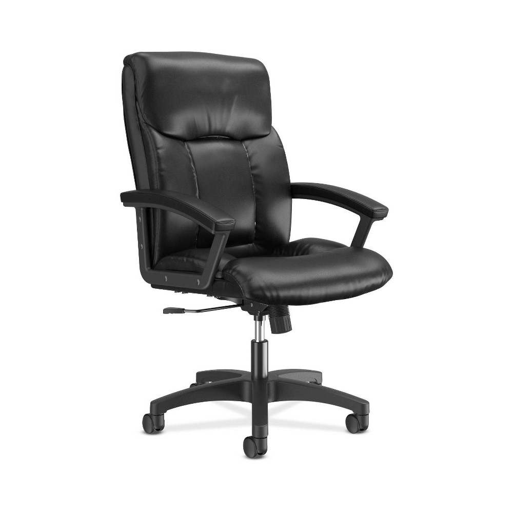 Image of Leather High Back Executive Office Chair Black - HON