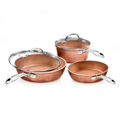 Gotham Steel Hammered Copper 5pc Cookware Set