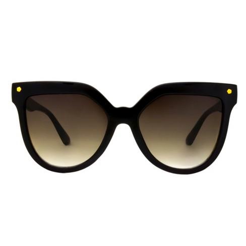 Women's Smoke Sunglasses - A New Day™ Black - image 1 of 3