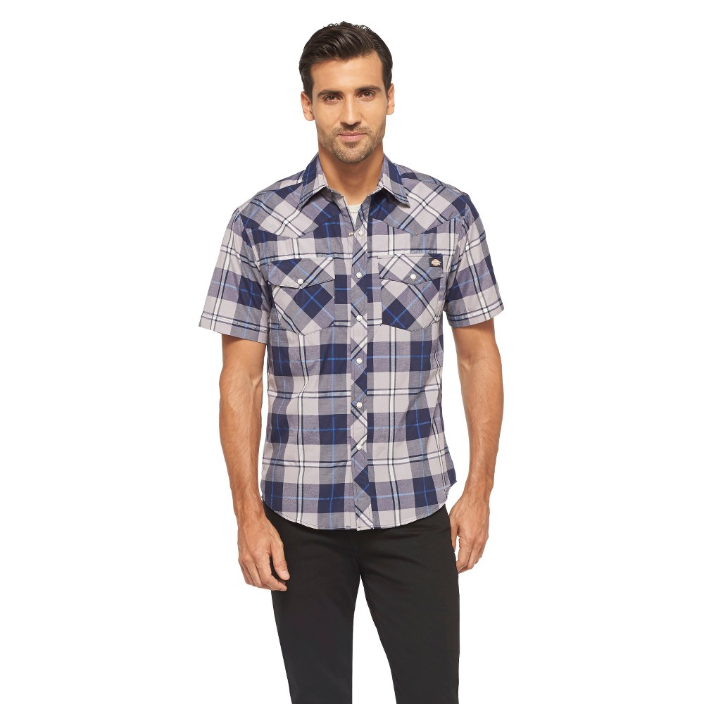 Dickies Men's Classic Fit Shirt - Evening Blue XL, Dark Blue