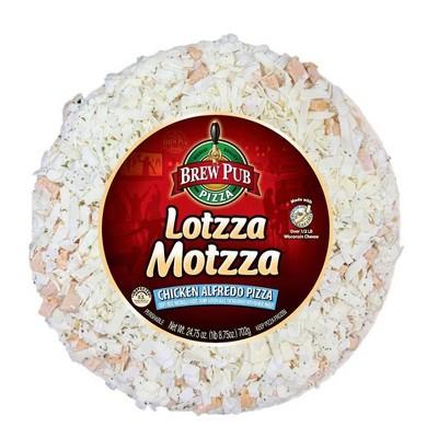 Brew Pub Lotzza Motzza Chicken Alfredo Frozen Pizza - 24.75oz