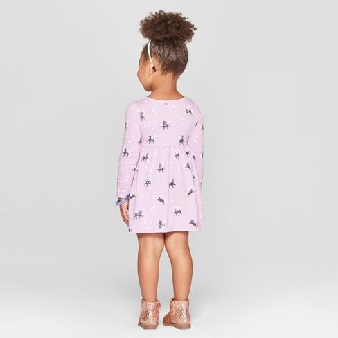 cb08bbd3 Toddler Girls' Unicorn All Over Print A-Line Dress - Cat & Jack™ Purple