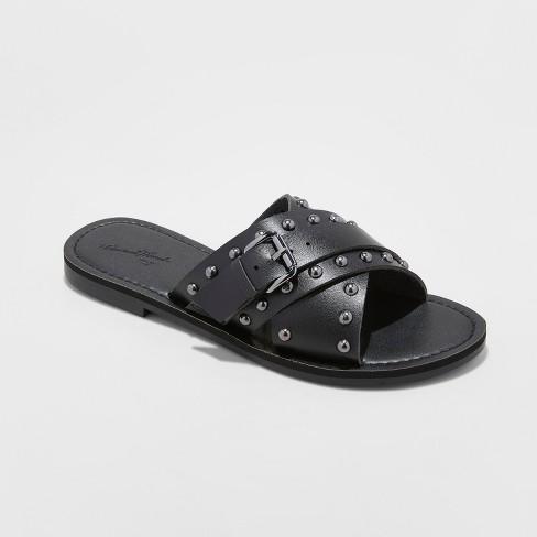 1a54996d9e8c Women s Kellan Studded Crossband Slide Sandals - Universal Thread™   Target