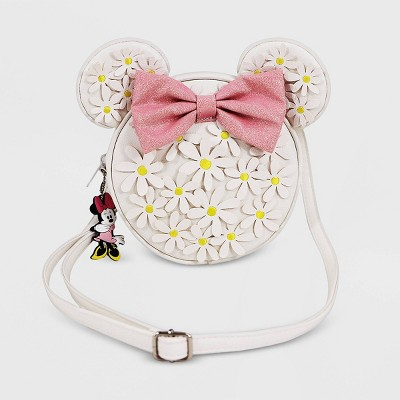 Girls' Disney Minnie Mouse Crossbody Bag - White - Disney Store
