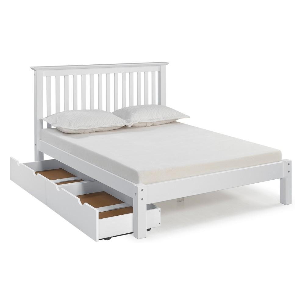 Image of Barcelona Full Bed With Storage Drawers White - Bolton Furniture