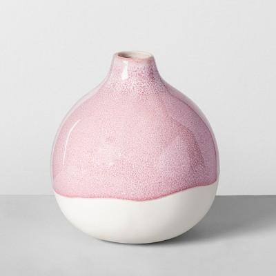 4.8  x 4.5  Decorative Stoneware Vase Light Pink/White - Opalhouse™