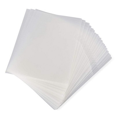 24-Pack Clear Project Protector Folders for Letter Size Documents, 11.4 x 8.9 inches