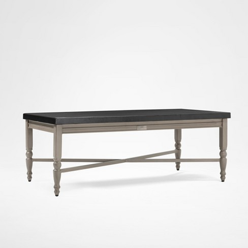 Saylor Rectangular Aluminum Top Outdoor Coffee Table Blue Oak Target