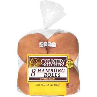 Country Kitchen Hamburger Rolls - 11.5oz/8ct