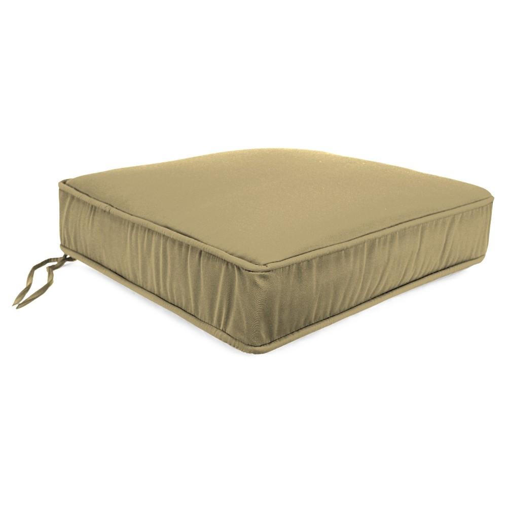 Seat Cushion In Sunbrella Canvas - Warm Beige - Jordan Manufacturing