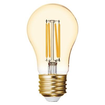 General Electric 40W VintaA15 Ceiling Fan CAM base Filament Amber LED Light Bulb White