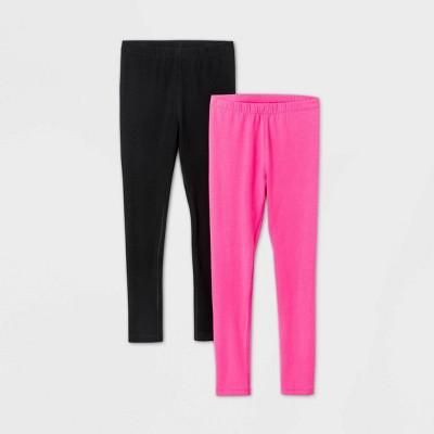 Girls' 2pk Adaptive Leggings - Cat & Jack™ Black/Pink