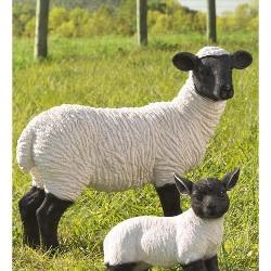 Standing Suffolk Sheep Garden Statue - Plow & Hearth
