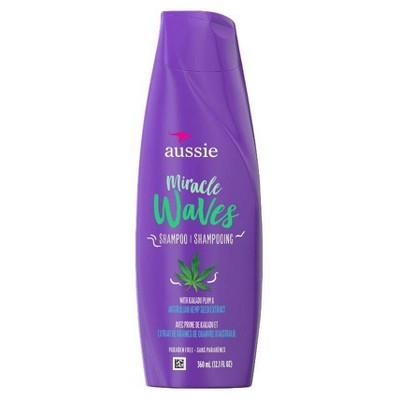 Aussie Miracle Waves Anti-Frizz Hemp Paraben-Free Shampoo - 12.1 fl oz