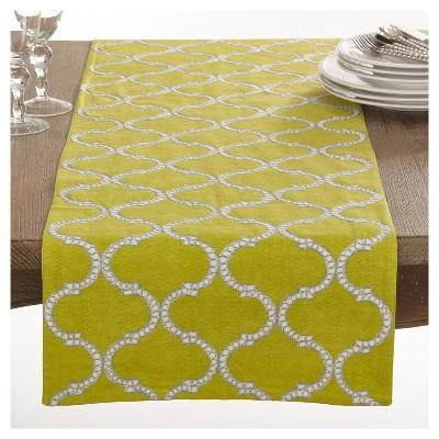 "Dastan Stitched Lattice Design Table Runner (16""x72"") - Saro Lifestyle®"
