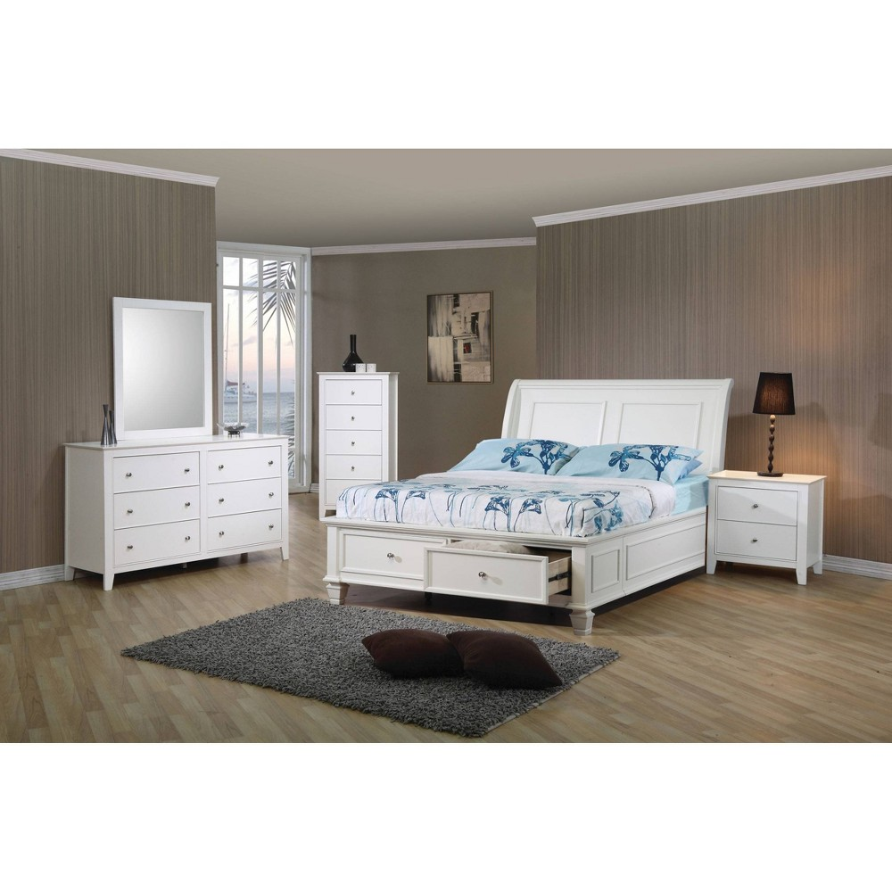 Twin Sienna Storage Bed White - Private Reserve