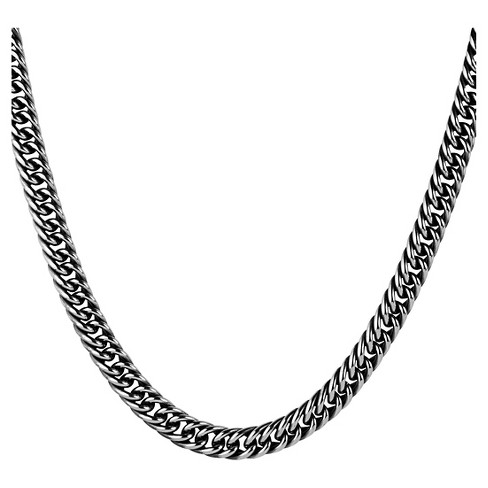 264e3623beb Men's Crucible Stainless Steel Antiqued Cuban Link Chain