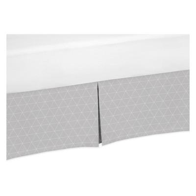 Sweet Jojo Designs Crib Skirt - Mountains Grid - Gray