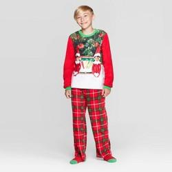 Boys' Elf on the Shelf 2pc Pajama Set with Socks - Red