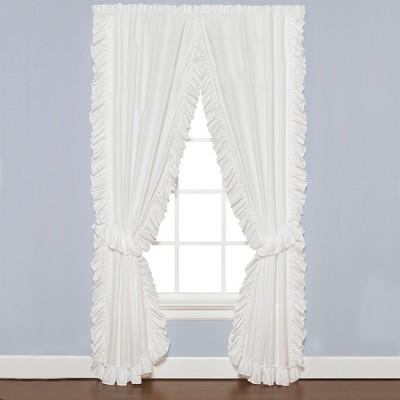 Saturday Knight Ltd Sarah Soft Ruffled Edges 2-Piece window Panel - White